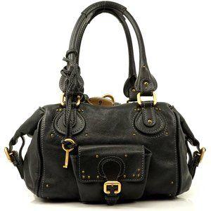 Auth Chloe Paddington Hand Bag Black #4111O10